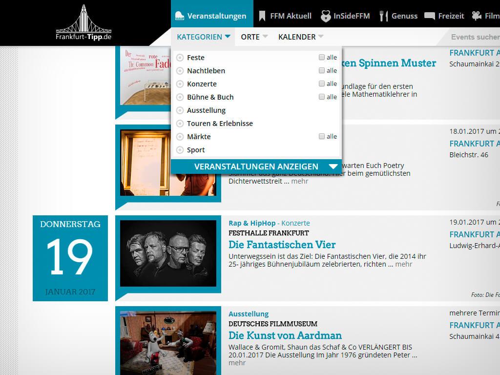 Frankfurt-Tipp.de - Veranstaltungskalender © Sylphen GmbH & Co. KG