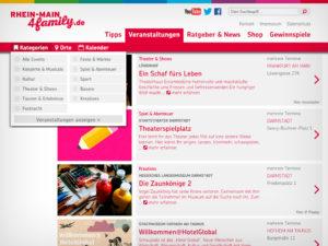 RheinMain4Family.de Eventkalender © Sylphen GmbH & Co. KG